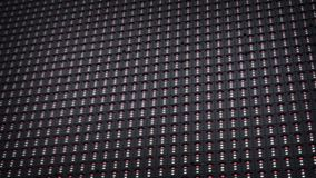 Outdoor modular LED panels on the stage stock video