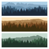 Outdoor mountain landscape banners Royalty Free Stock Photography