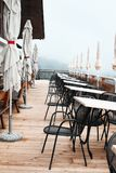 Outdoor mountain restaurant in the South Tyrolean Alps Royalty Free Stock Images