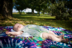 Outdoor Nap for Baby Stock Image