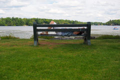 Outdoor Nap by Lake Royalty Free Stock Photo