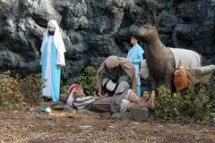 Outdoor Nativity scene Royalty Free Stock Image