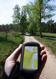 Outdoor Navigation on a trail Royalty Free Stock Image