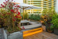 Outdoor Night Lounge Sunset Stock Image