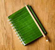 Notepad with cover of leaf  Royalty Free Stock Photos
