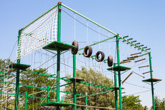 Outdoor obstacle course Stock Images