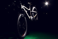 Outdoor off-road bicycle with winter tire Stock Photography