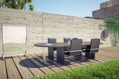 Outdoor office Stock Image