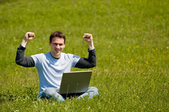 Outdoor office concept Royalty Free Stock Image