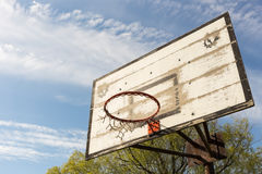 Outdoor old basketball hoop Royalty Free Stock Photo