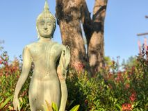 Outdoor old beautiful Buddhist sculptures Royalty Free Stock Images