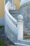 Outdoor old style spiral stairs with column Royalty Free Stock Photography