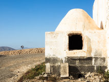 Outdoor oven and windmill at Fuerteventura, Canaries Stock Images