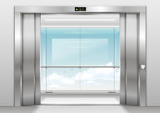 Outdoor panoramic elevator Royalty Free Stock Photos