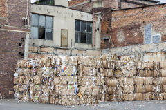 Outdoor of paper mill - Poland. Exterior of old paper mill in Poland royalty free stock photo