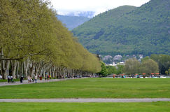 Outdoor park in Annecy in France Stock Image