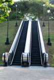 Outdoor Park Escalator Royalty Free Stock Photography