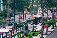 Outdoor park in Ho Chi Minh City, Vietnam Royalty Free Stock Photos