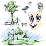 Outdoor Park Sketches. An image of outdoor park sketches Stock Photo
