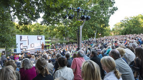 Outdoor Park Theater Stockholm Stock Image