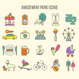Outdoor park vector icons. Royalty Free Stock Photo