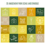 Outdoor park vector icons. Royalty Free Stock Image