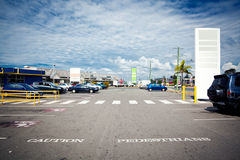 Outdoor parking Stock Photography