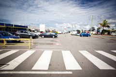 Outdoor parking Royalty Free Stock Photo
