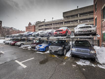 Outdoor parking lot Stock Images