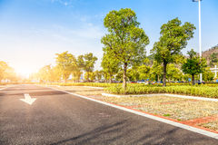 Outdoor parking road Royalty Free Stock Photo