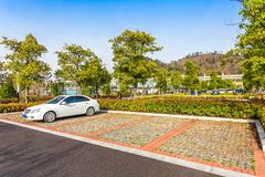 Outdoor parking road Royalty Free Stock Image