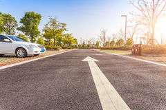 Outdoor parking road Royalty Free Stock Images