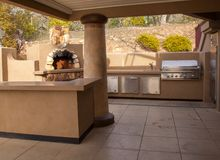 Outdoor party kitchen Royalty Free Stock Photo