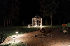 Outdoor party lights and decorations