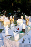 Outdoor party tables Stock Photography