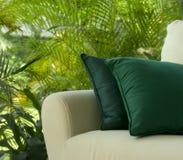 Outdoor Patio. An outdoor patio with a comfortable sofa Stock Photos