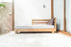 outdoor patio bed Stock Photography