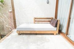 outdoor patio bed Stock Photos