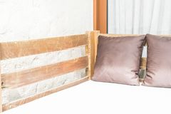 outdoor patio bed Stock Images