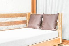 outdoor patio bed Stock Photo