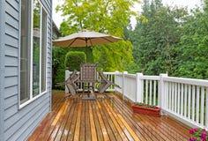 Outdoor patio closed due to heavy rain Royalty Free Stock Photos