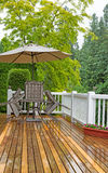 Outdoor patio closed due to poor weather conditions Royalty Free Stock Images