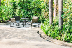 Outdoor patio Stock Images