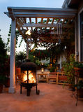 Outdoor patio with fireplace Stock Photography