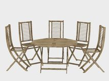 Outdoor patio furniture Royalty Free Stock Image