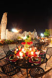 Outdoor patio at night Stock Photography