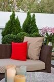 Outdoor patio seating area Royalty Free Stock Image