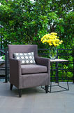 Outdoor patio seating Royalty Free Stock Image