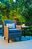 Outdoor patio seating Stock Photo