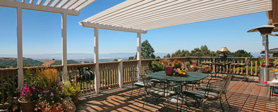 Outdoor Patio With Spectacular View stock images